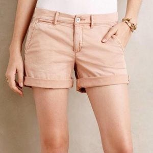 Anthropologie Peach Pilcro Hyphen Chino Shorts